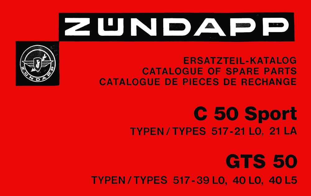Zündapp C 50 sport C 50 super Moteur Embrayage langue type 517 529 441 mobylette Mokick